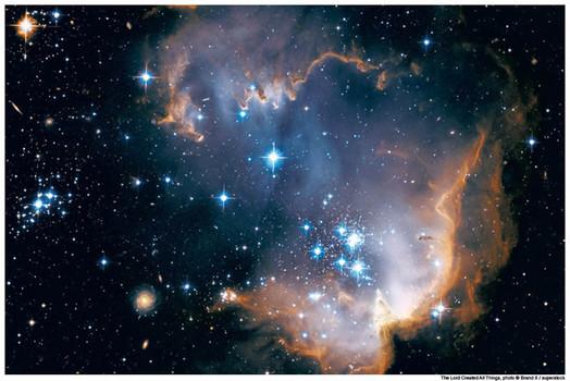Satellite view of Magellanic Cloud