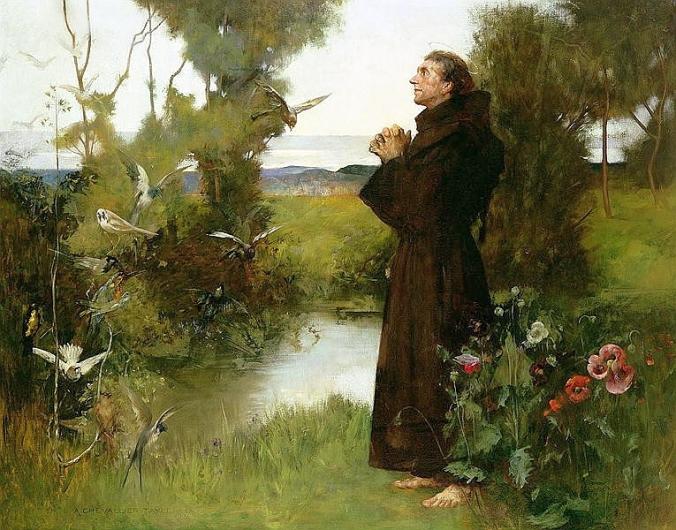 albert-chevallier-tayler-saint-francis-of-assisi-patron-nature-1898-birds
